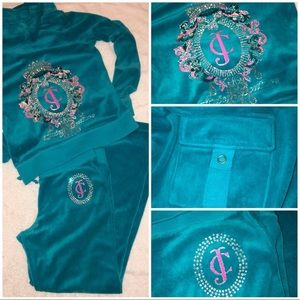 JUICY COUTURE BLING Sweatsuit, Track Suit GLITTER